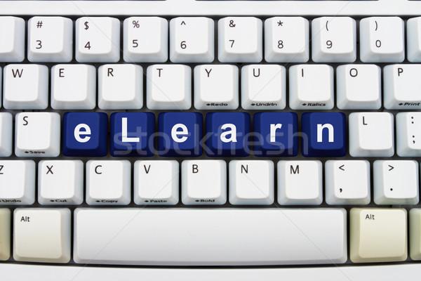 Eğitim Internet bilgisayar klavye tuşları kelime klavye Stok fotoğraf © karenr