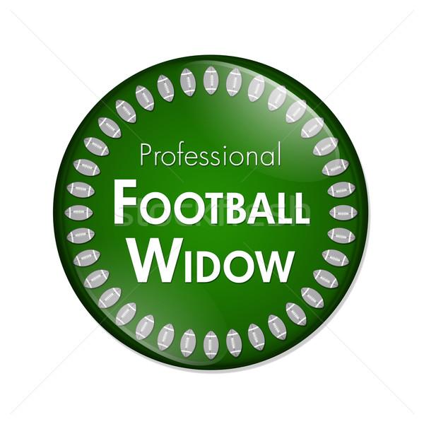 プロ サッカー 未亡人 ボタン 緑 白 ストックフォト © karenr