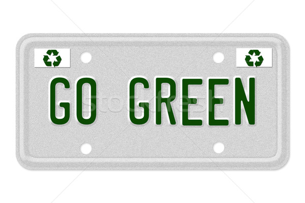 Go Green Car License Plate Stock photo © karenr