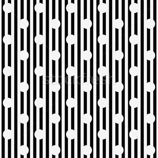 白 水玉模様 黒白 縞模様の ファブリック ストックフォト © karenr