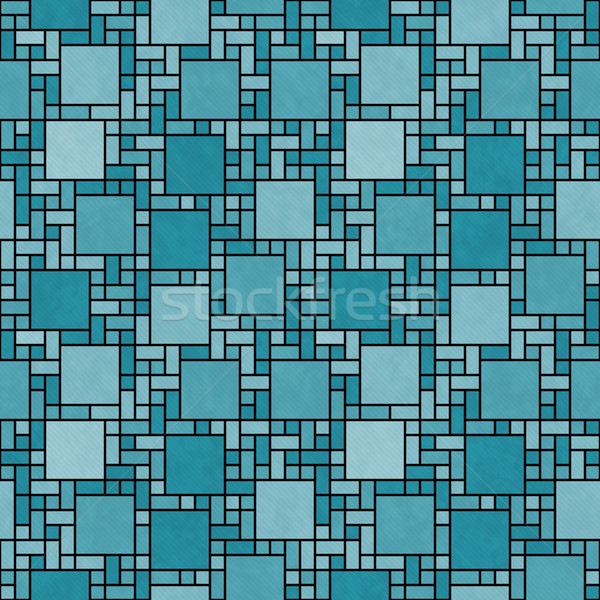 Zwarte vierkante mozaiek abstract meetkundig ontwerp Stockfoto © karenr