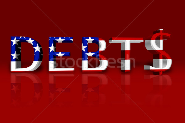 Stock photo: United States Debts