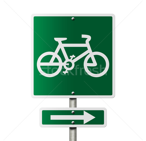 Bike Route this way Stock photo © karenr