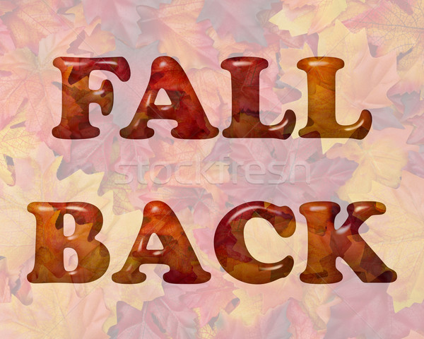 Fall Back Time Change Stock photo © karenr