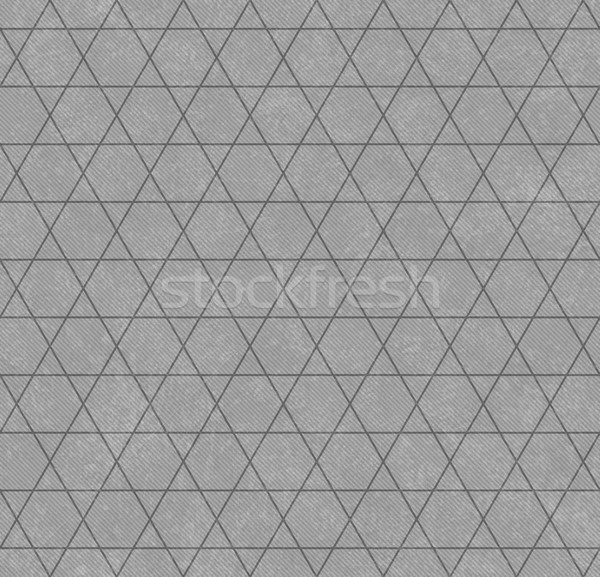 Gray Hexagon and Triangle Patterned Textured Fabric Background Stock photo © karenr