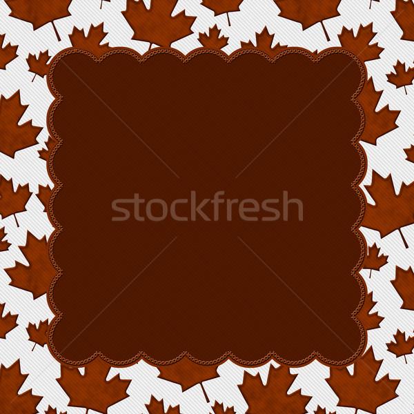 Laranja tecido cópia espaço outono Foto stock © karenr
