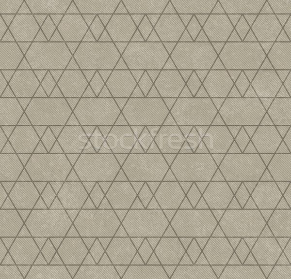 бежевый линия зигзаг ткань бесшовный Сток-фото © karenr