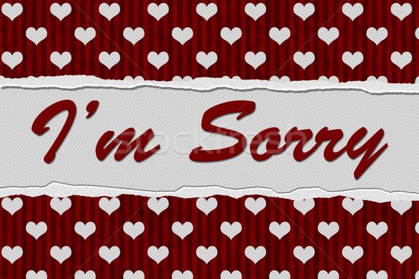 Mensagem vermelho corações rasgado texto Foto stock © karenr