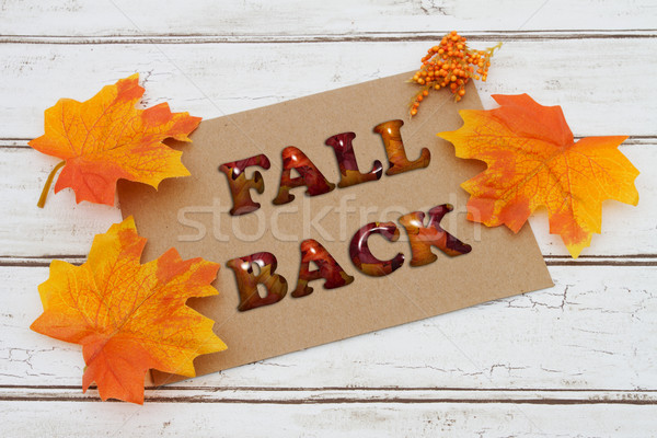 Fall Back Card Stock photo © karenr