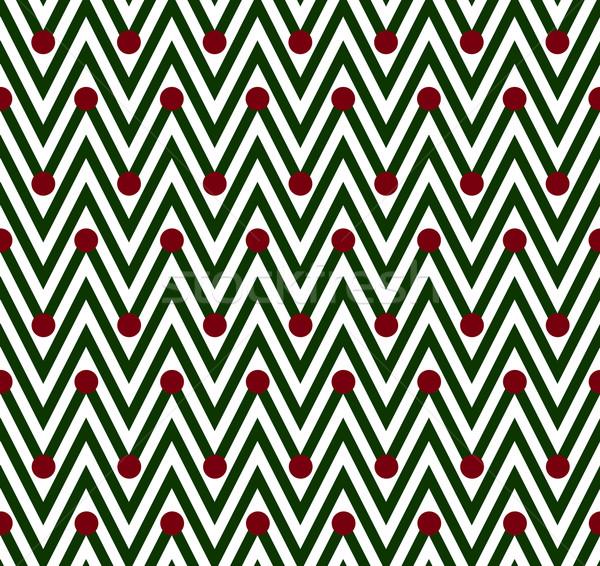 Verde branco horizontal listrado sem costura Foto stock © karenr