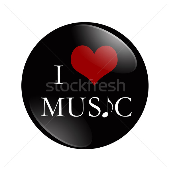 I Love Music button Stock photo © karenr