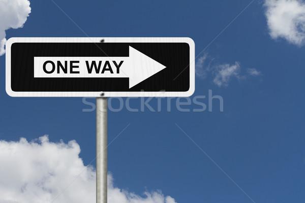 One Way Sign Stock photo © karenr
