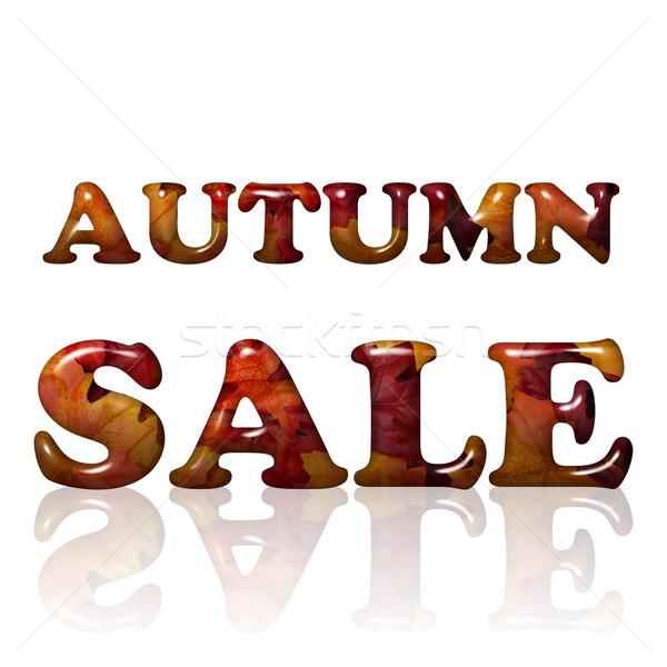 осень продажи слов 3D письма оранжевый Сток-фото © karenr
