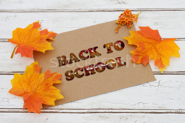 Back to School Sale Card Stock photo © karenr
