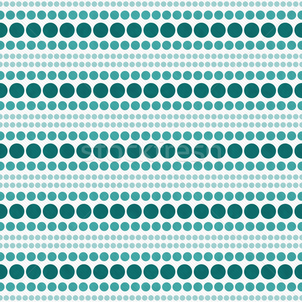 Teal and White Polka Dot  Abstract Design Tile Pattern Repeat Ba Stock photo © karenr