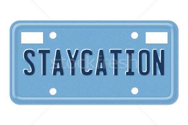 Take a staycation trip Stock photo © karenr