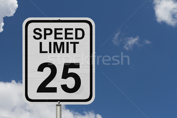 Speed Limit 25 Sign Stock photo © karenr