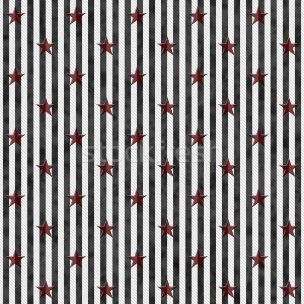 черно белые звезды полосатый ткань бесшовный Сток-фото © karenr