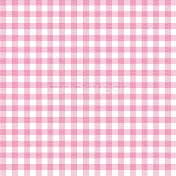 Pink Gingham Fabric Background Stock photo © karenr