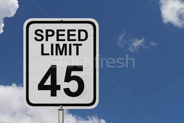 Speed Limit 45 Sign Stock photo © karenr