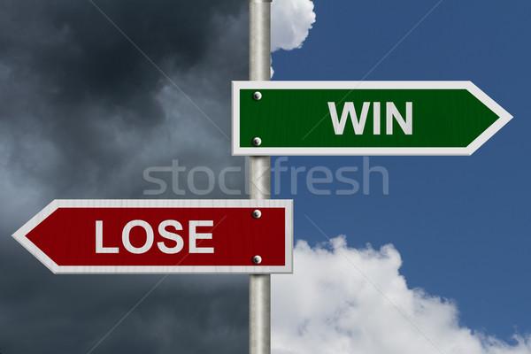 Win versus Lose Stock photo © karenr