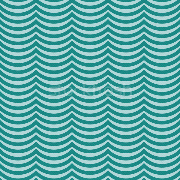 Teal Wavy Stripes Tile Pattern Repeat Background Stock photo © karenr