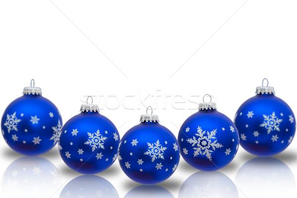 Рождества время синий украшения изолированный Сток-фото © karenr