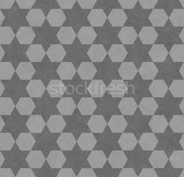 Gray Hexagon Patterned Textured Fabric Background Stock photo © karenr