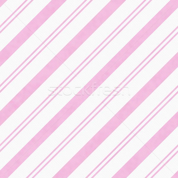 Pálido rosa diagonal a rayas tejido Foto stock © karenr