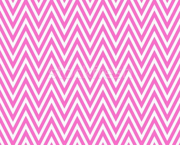 Thin Bright Pink and White Horizontal Chevron Striped Textured F Stock photo © karenr