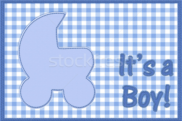 It is a boy baby announcement Stock photo © karenr