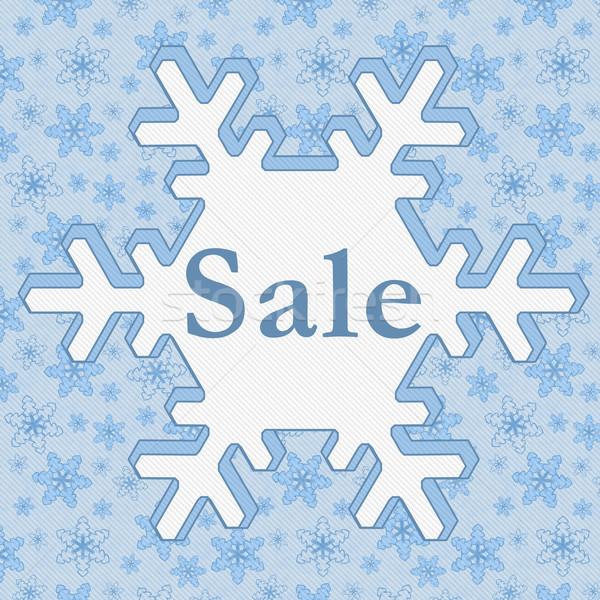 зима продажи синий снежинка текста Сток-фото © karenr