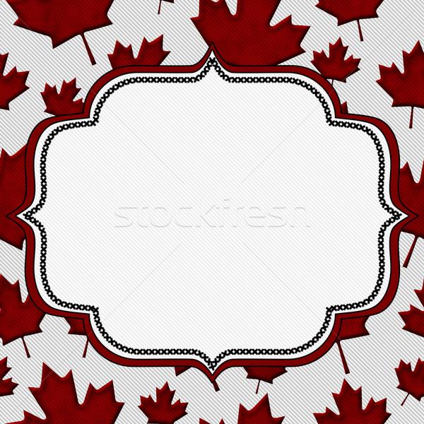 Rojo hojas de otoño tejido espacio de la copia otono Foto stock © karenr