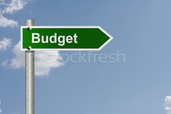 Road map to making your budget Stock photo © karenr