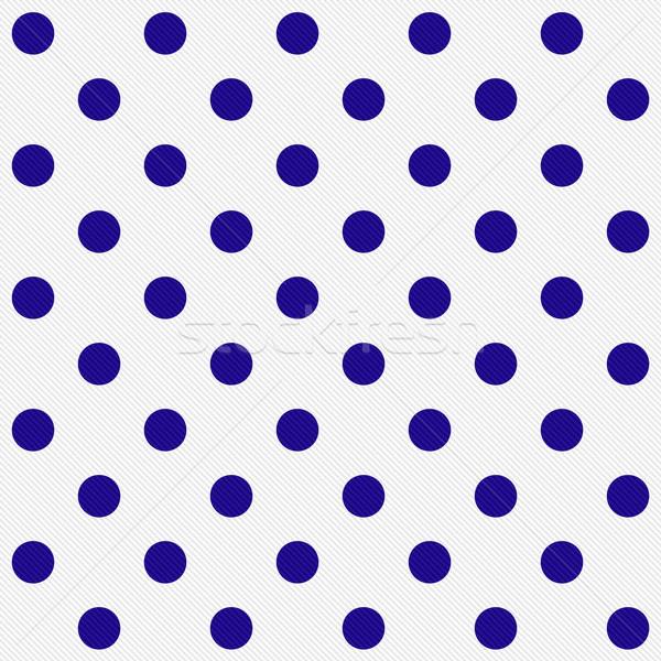 明るい 青 水玉模様 白 ファブリック ストックフォト © karenr