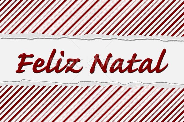 Mutlu tatil şeker çizgili Noel Stok fotoğraf © karenr