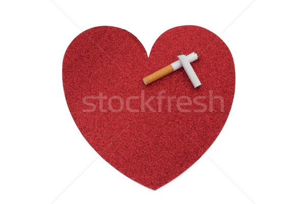 Quit smoking for a healthier heart Stock photo © karenr