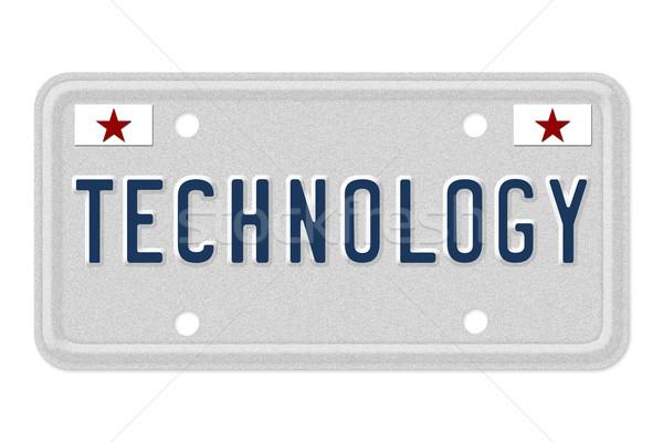 Tecnología nuevos coches palabra gris placa Foto stock © karenr