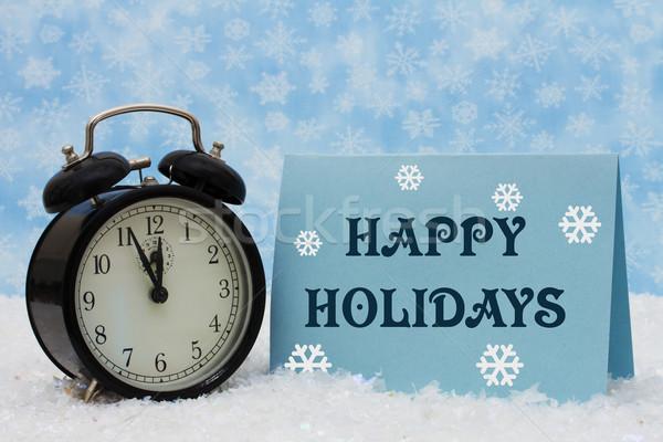 Happy Holidays Time Stock photo © karenr