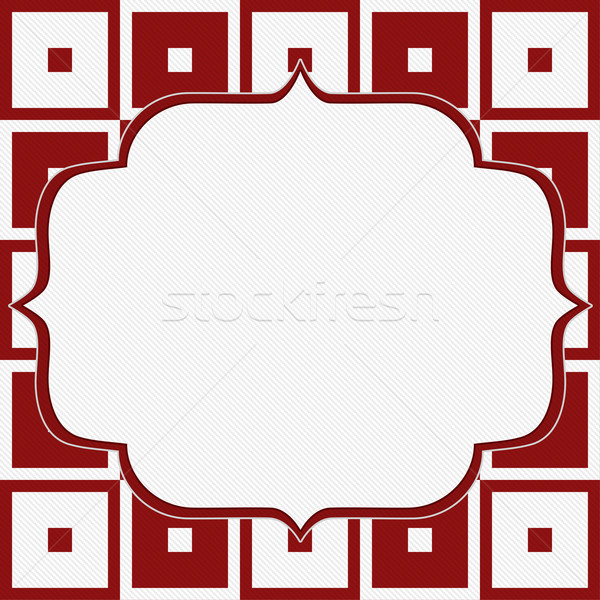 Red and White Tapestry Square Fabric Background Stock photo © karenr