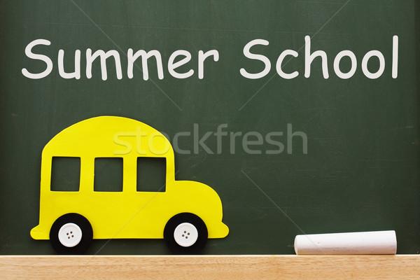 лет школы доске слов желтый автобус Сток-фото © karenr