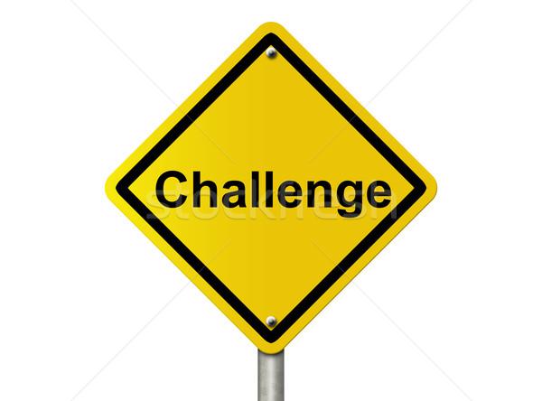 вызов впереди предупреждение американский дороги Сток-фото © karenr