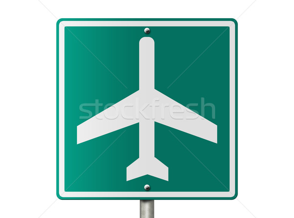 Airport  Sign Stock photo © karenr