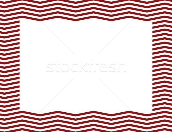 красный кадр центр изолированный копия пространства бумаги Сток-фото © karenr