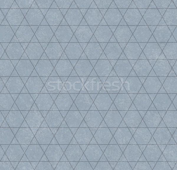 Blue Hexagon and Triangle Patterned Textured Fabric Background Stock photo © karenr