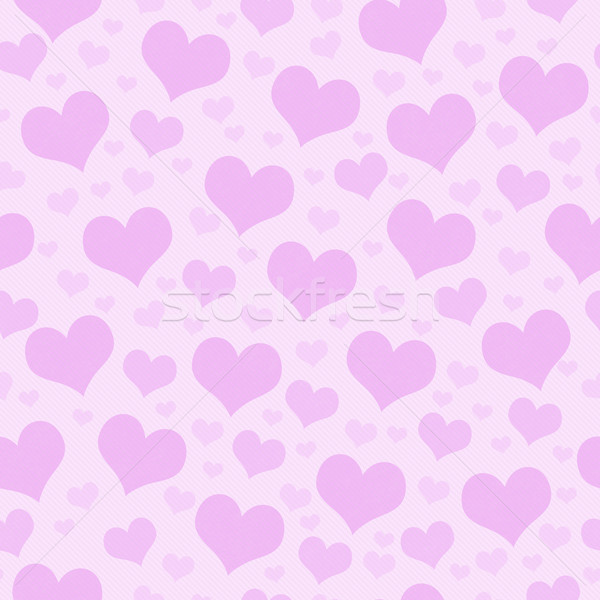 Rosa corazones azulejo patrón repetir sin costura Foto stock © karenr