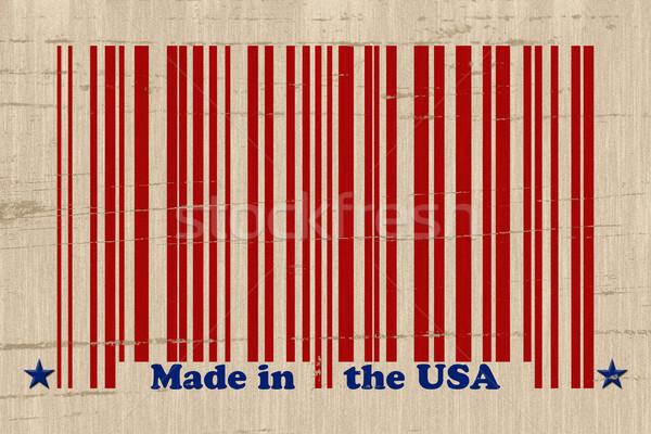 ABD kırmızı barkod sözler grunge Stok fotoğraf © karenr