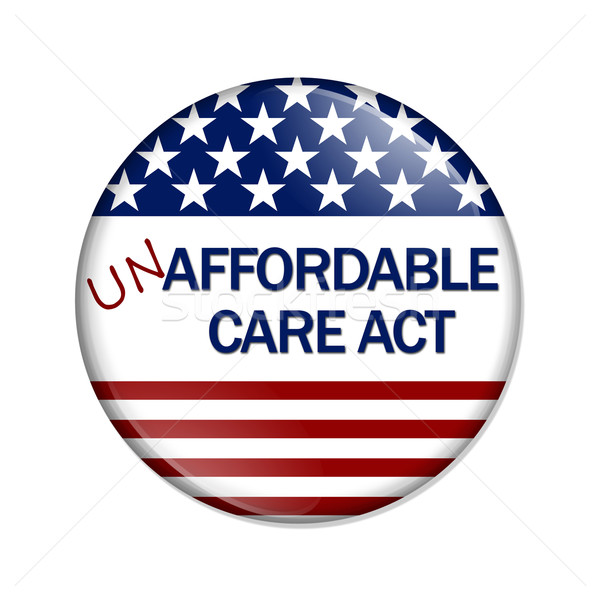 Not Affordable Care Act Button Stock photo © karenr