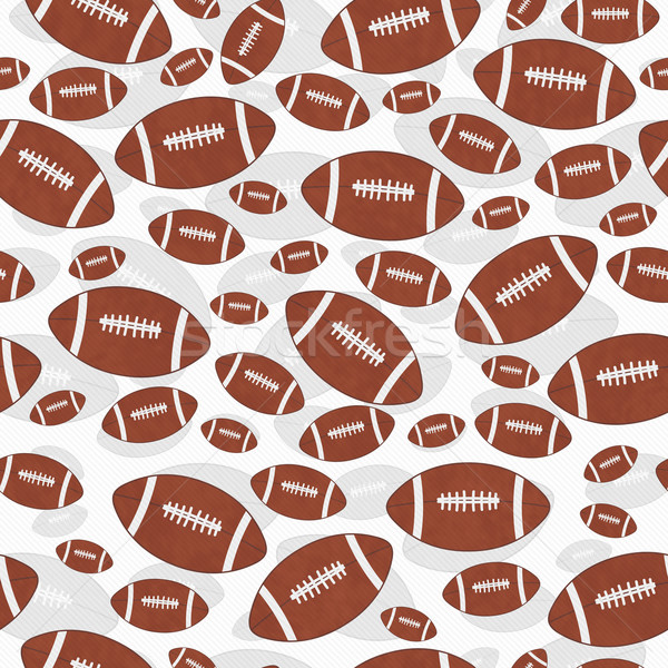 Brown and White Football Tile Pattern Repeat Background Stock photo © karenr