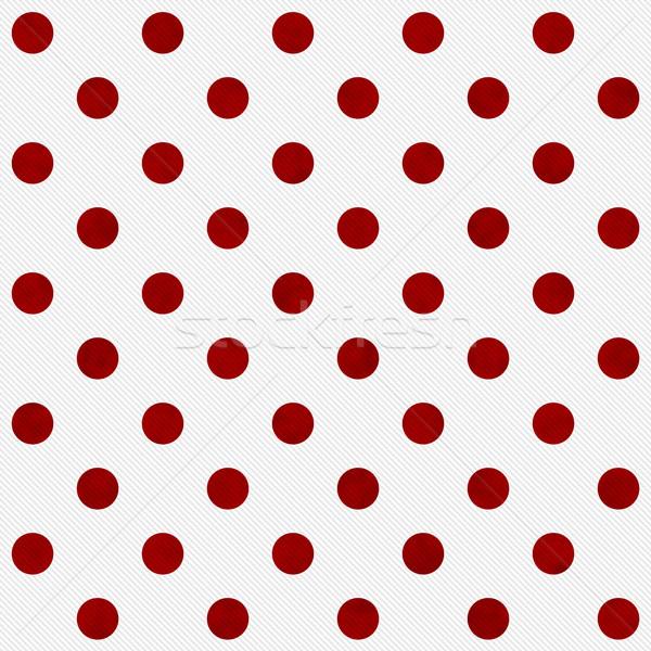 Kırmızı lekeli beyaz kumaş Stok fotoğraf © karenr